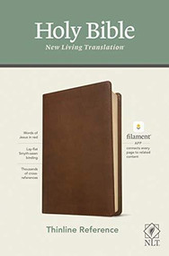 NLT Thinline Reference Bible, Filament Enabled Edition (Red Letter, LeatherLike, Rustic Brown) by , 9781496444820