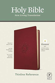 NLT Thinline Reference Bible, Filament Enabled Edition (Red Letter, LeatherLike, Aurora Cranberry) by , 9781496444837
