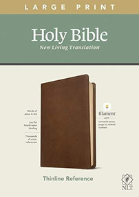 NLT Large Print Thinline Reference Bible, Filament Enabled Edition (Red Letter, LeatherLike, Rustic Brown) by , 9781496444882