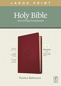 NLT Large Print Thinline Reference Bible, Filament Enabled Edition (Red Letter, LeatherLike, Aurora Cranberry) by , 9781496444899