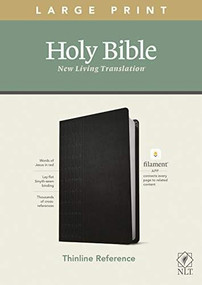NLT Large Print Thinline Reference Bible, Filament Enabled Edition (Red Letter, LeatherLike, Cross Grip Black) by , 9781496444905