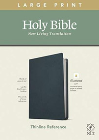 NLT Large Print Thinline Reference Bible, Filament Enabled Edition (Red Letter, Genuine Leather, Navy Blue), 9781496444936