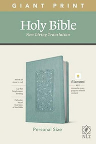 NLT Personal Size Giant Print Bible, Filament Enabled Edition (Red Letter, LeatherLike, Floral Frame Teal) by , 9781496444950