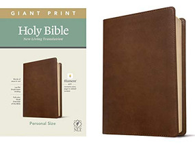NLT Personal Size Giant Print Bible, Filament Enabled Edition (Red Letter, LeatherLike, Rustic Brown) by , 9781496444967