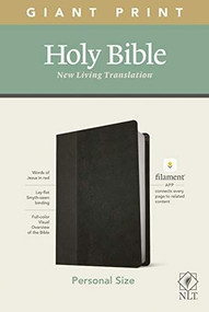 NLT Personal Size Giant Print Bible, Filament Enabled Edition (Red Letter, LeatherLike, Black/Onyx) by , 9781496444974