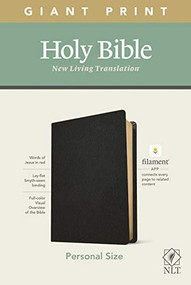 NLT Personal Size Giant Print Bible, Filament Enabled Edition (Red Letter, Genuine Leather, Black) by , 9781496444981