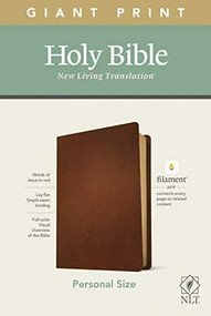 NLT Personal Size Giant Print Bible, Filament Enabled Edition (Red Letter, Genuine Leather, Brown) by , 9781496444998