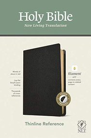 NLT Thinline Reference Bible, Filament Enabled Edition (Red Letter, Genuine Leather, Black, Indexed) by , 9781496445247