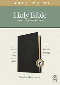NLT Large Print Thinline Reference Bible, Filament Enabled Edition (Red Letter, Genuine Leather, Black, Indexed) by , 9781496445360