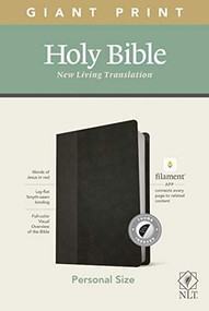 NLT Personal Size Giant Print Bible, Filament Enabled Edition (Red Letter, LeatherLike, Black/Onyx, Indexed) by , 9781496445292