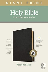 NLT Personal Size Giant Print Bible, Filament Enabled Edition (Red Letter, Genuine Leather, Black, Indexed) by , 9781496445308