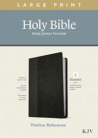 KJV Large Print Thinline Reference Bible, Filament Enabled Edition (Red Letter, LeatherLike, Black/Onyx) by , 9781496447159