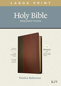KJV Large Print Thinline Reference Bible, Filament Enabled Edition (Red Letter, LeatherLike, Brown/Mahogany) by , 9781496447166