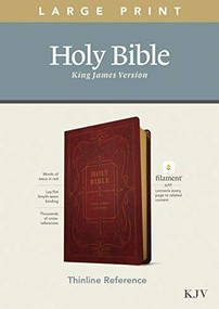 KJV Large Print Thinline Reference Bible, Filament Enabled Edition (Red Letter, LeatherLike, Ornate Burgundy) by , 9781496447173