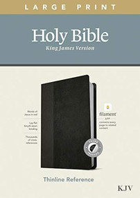 KJV Large Print Thinline Reference Bible, Filament Enabled Edition (Red Letter, LeatherLike, Black/Onyx, Indexed) by , 9781496447197