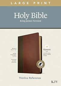 KJV Large Print Thinline Reference Bible, Filament Enabled Edition (Red Letter, LeatherLike, Brown/Mahogany, Indexed) by , 9781496447203
