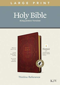 KJV Large Print Thinline Reference Bible, Filament Enabled Edition (Red Letter, LeatherLike, Ornate Burgundy, Indexed) by , 9781496447210