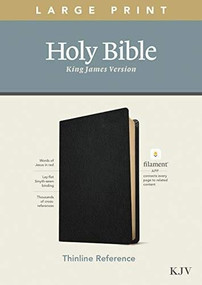 KJV Large Print Thinline Reference Bible, Filament Enabled Edition (Red Letter, Genuine Leather, Black) by , 9781496447234