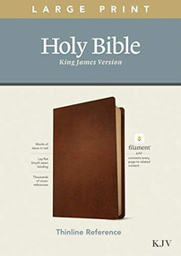 KJV Large Print Thinline Reference Bible, Filament Enabled Edition (Red Letter, Genuine Leather, Brown) by , 9781496447241