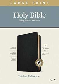 KJV Large Print Thinline Reference Bible, Filament Enabled Edition (Red Letter, Genuine Leather, Black, Indexed) by , 9781496447258
