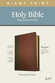 KJV Personal Size Giant Print Bible, Filament Enabled Edition (Red Letter, LeatherLike, Brown/Mahogany) by , 9781496447685