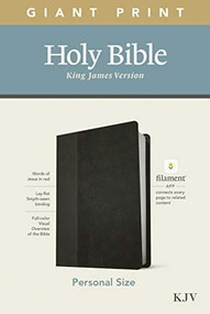 KJV Personal Size Giant Print Bible, Filament Enabled Edition (Red Letter, LeatherLike, Black/Onyx) by , 9781496447692
