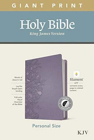 KJV Personal Size Giant Print Bible, Filament Enabled Edition (Red Letter, LeatherLike, Peony Lavender, Indexed) by , 9781496447715