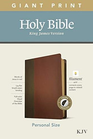 KJV Personal Size Giant Print Bible, Filament Enabled Edition (Red Letter, LeatherLike, Brown/Mahogany, Indexed) by , 9781496447722