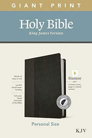 KJV Personal Size Giant Print Bible, Filament Enabled Edition (Red Letter, LeatherLike, Black/Onyx, Indexed) by , 9781496447739
