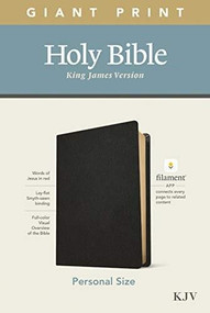 KJV Personal Size Giant Print Bible, Filament Enabled Edition (Red Letter, Genuine Leather, Black) by , 9781496447746