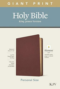KJV Personal Size Giant Print Bible, Filament Enabled Edition (Red Letter, Genuine Leather, Burgundy) by , 9781496447753