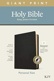 KJV Personal Size Giant Print Bible, Filament Enabled Edition (Red Letter, Genuine Leather, Black, Indexed) by , 9781496447760