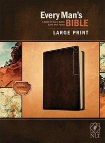 Every Man's Bible NLT, Large Print, Deluxe Explorer Edition (LeatherLike, Rustic Brown) by Stephen Arterburn, Dean Merrill, 9781496447906