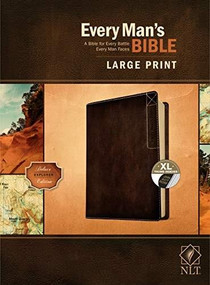 Every Man's Bible NLT, Large Print, Deluxe Explorer Edition (LeatherLike, Rustic Brown, Indexed) by Stephen Arterburn, Dean Merrill, 9781496447913