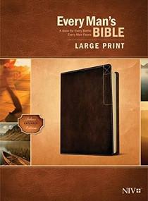 Every Man's Bible NIV, Large Print, Deluxe Explorer Edition (LeatherLike, Rustic Brown) by Stephen Arterburn, Dean Merrill, 9781496447944