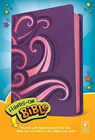 Hands-On Bible NLT (LeatherLike, Purple/Pink Swirls) by , 9781496450166