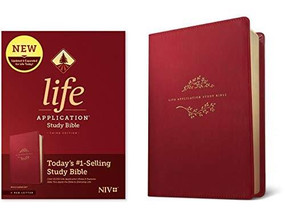 NIV Life Application Study Bible, Third Edition (Red Letter, LeatherLike, Berry), 9781496455246