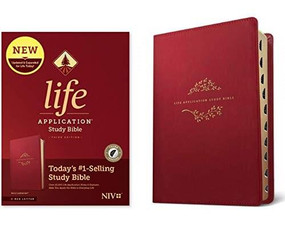 NIV Life Application Study Bible, Third Edition (Red Letter, LeatherLike, Berry, Indexed), 9781496455260