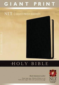 Holy Bible, Giant Print NLT (Red Letter, Imitation Leather, Black) by , 9781414314280