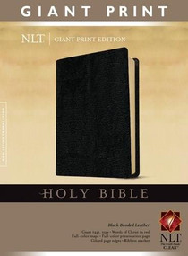 Holy Bible, Giant Print NLT (Red Letter, Bonded Leather, Black) by , 9781414337500