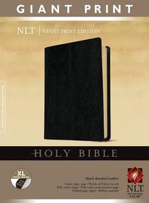 Holy Bible, Giant Print NLT (Red Letter, Bonded Leather, Black, Indexed) by , 9781414337517