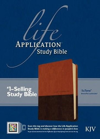 KJV Life Application Study Bible, Second Edition, TuTone (Red Letter, LeatherLike, Brown/Tan, Indexed) by , 9781414375489