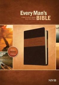 Every Man's Bible NIV, Deluxe Heritage Edition, TuTone (LeatherLike, Brown/Tan) by Stephen Arterburn, Dean Merrill, 9781414381107