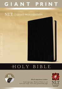 Holy Bible, Giant Print NLT (Red Letter, Imitation Leather, Black, Indexed) by , 9781414398440