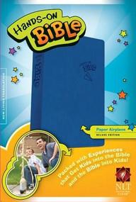 Hands-On Bible NLT (LeatherLike, Blue) by , 9781414398532