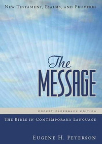 The Message New Testament with Psalms and Proverbs, Pocket (Softcover, Boardwalk Sunrise) (The New Testament in Contemporary Language) (Miniature Edition) by Eugene H. Peterson, 9781576839379
