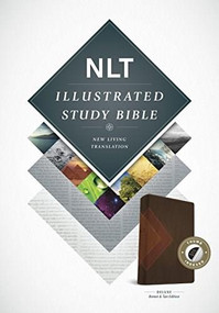Illustrated Study Bible NLT, TuTone (LeatherLike, Brown/Tan, Indexed) by , 9781496402059