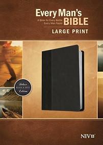 Every Man's Bible NIV, Large Print, TuTone (LeatherLike, Onyx/Black) by Stephen Arterburn, Dean Merrill, 9781496409133