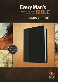 Every Man's Bible NLT, Large Print, TuTone (LeatherLike, Black/Onyx) by Stephen Arterburn, Dean Merrill, 9781496409140