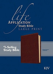 KJV Life Application Study Bible, Second Edition, Large Print (Red Letter, LeatherLike, Brown) by , 9781496417947